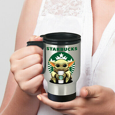 $29.97 • Buy Starbucks Baby Yoda Star Wars Cute Yoda Starbucks Travel Coffee Mug Gift