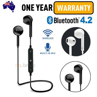 AU9.45 • Buy NEW! Wireless Bluetooth 4.2 Headset Earphones Gift Sport Gym Headphones With Mic