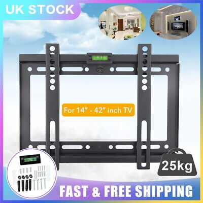 Universal TV Wall Mount Bracket Flat For 14-42   Plasma LCD LED Monitor Holders • 5.99£