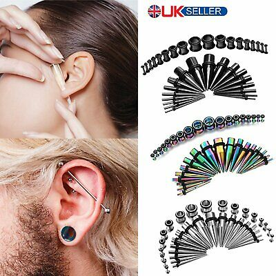 36pcs Steel Ear Taper Stretcher Tunnel Plugs Expander Kit Gauges Stretching Set • 8.89£