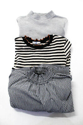 $29.99 • Buy Zara Womens Knit Top Dress Black White Gray Size Small Lot 3