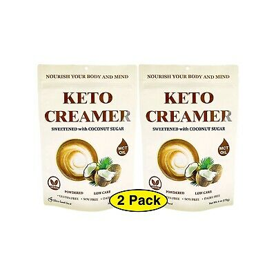 $18.99 • Buy Keto Coffee Creamer W/ MCT Oil Dairy Free Sweetened W/ Coconut Sugar 12 Oz