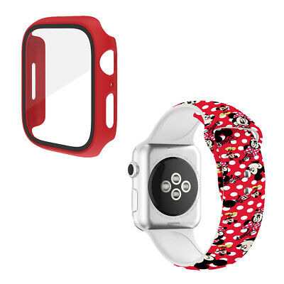 $ CDN13.75 • Buy Minnie Mickey Mouse Ears Band Strap Case Cover For Apple Watch Series 5 4 3 2 1