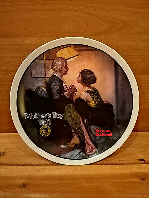 $ CDN4.99 • Buy Norman Rockwell MOTHER'S DAY COLLECTION Plate  After The Party
