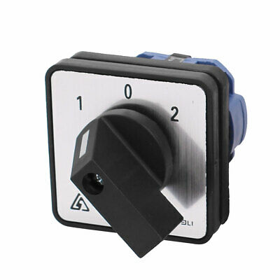 £8.38 • Buy AC 660V 20A Latching 4 Terminals 3 Position Cam Combination Changeover Switch