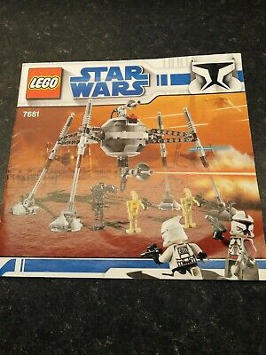 Lego Star Wars - 7681 - Separatist Spider Droid - Instructions Manual • 8.99£