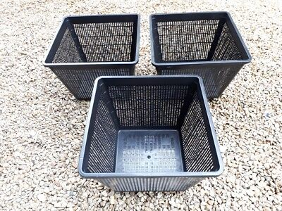 3 X 29 Cm Square Large Aquatic Planting Basket For Pond Plants Water Lily Lilies • 8.99£