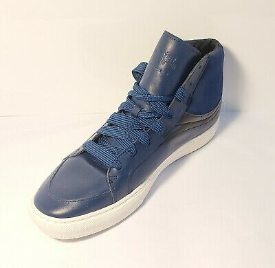 $125 • Buy RARE!!! Leather COACH Mens Size 13D BLUE Shoes G1386 Classy Sneakers.