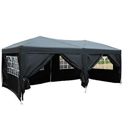 £179.99 • Buy Outsunny 6m X 3m Pop Up Gazebo Party Tent Canopy Marquee With Storage Bag Black