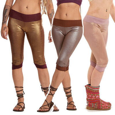 Festival Fairy Rave Tights, Metallic Cropped Pixie Tights, Hula Hooping Clothing • 14£