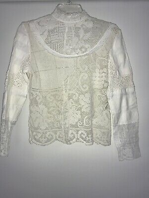 $ CDN59.64 • Buy Anthropologie Place Nationale Crochet Blouse Size Small Ivory