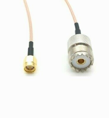 £5.25 • Buy UHF PL259 SO239 Female To SMA Male Pigtail RG316 15cm Cable               901