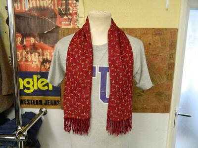 Vintage 1960/70s Tootal Red Yellow Claret Paisley Pattern Scarf - 45 X10  • 24.99£