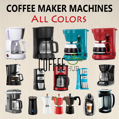 View Details Coffee Maker Machines American Drip Coffee Brewer Lot Espresso Cup All Colors • 60.70£
