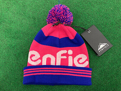 New Ladies Penfield Sandford Beanie - Royal Blue, Raspberry And White - One Size • 20£