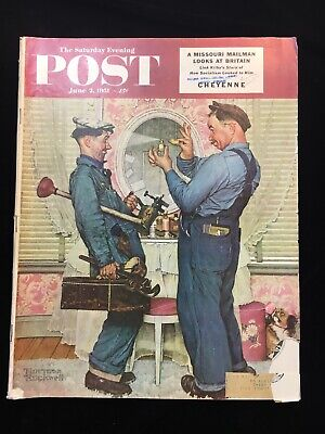 $ CDN47.21 • Buy Saturday Evening Post June 2 1951 Norman Rockwell - Vintage Ads. Cars, Smokes &