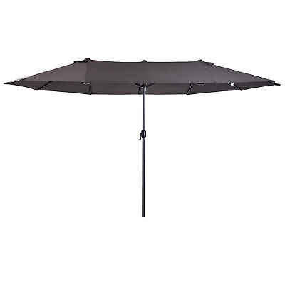 Outsunny 4.6m Double-Sided Patio Umbrella Parasol Sun Shelter Canopy Shade • 99.99£