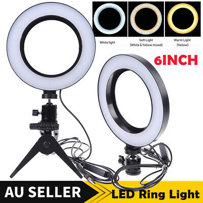 AU20.99 • Buy 6  Ring Light With Stand Dimmable LED Lighting Kit For Makeup Photography Live
