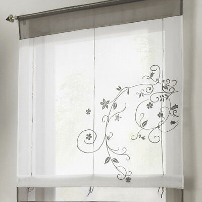 Living Room Sheer Curtains Window Bedroom Ornament Embroidered Curtains C • 5.90£
