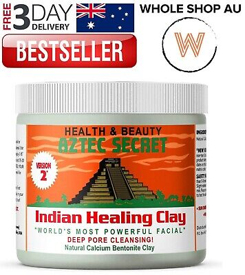 AU29.65 • Buy Aztec Secret Indian Healing Clay Deep Pore Cleansing Facial Body Hair Mask 1 Lb.