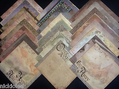 $26.95 • Buy 12X12 Scrapbook Paper Cardstock DCWV Once Upon A Time Fairytale Stack 24 Kit Lot