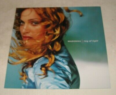 $9.99 • Buy MADONNA - RAY Of LIGHT PROMO POSTER FLAT 2 SIDED 1998 WARNER BROTHERS RECORDS