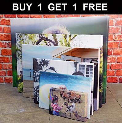 £10.82 • Buy Your Photo Picture On Canvas Print A0 A1 A2 A3 A4 A5 Box Framed Ready To Hang/-