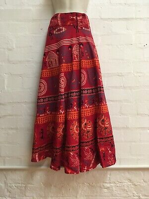 Ladies Gringo Long Wrap Around, Ethnic Pattern Skirt, Hippie, Boho, Festival • 22.99£