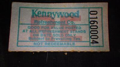 $11.99 • Buy VINTAGE 25 Cent KENNYWOOD AMUSEMENT PARK REFRESH TICKET PITTSBURGH WEST MIFFLIN