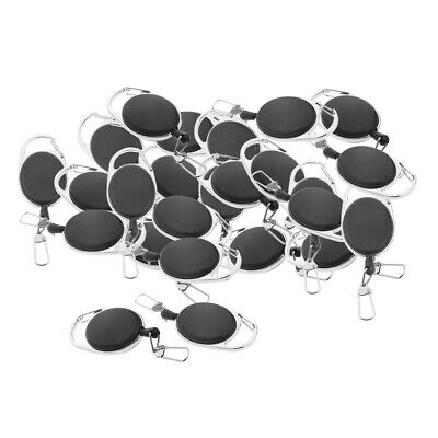 25x Extendable Wire Key Ring Retractable Reel Clip Keyring Holder Gadget • 15.79£