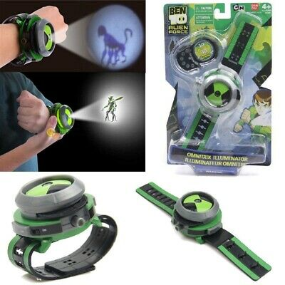 BEN 10 Ten Projector Watch Alien Force Omnitrix Illumintator Bracelet Kid's Toys • 10.56£