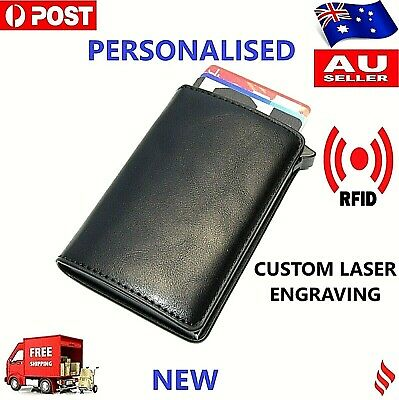 AU11.99 • Buy 2020 NEW Pop Up Leather Credit Card Holder RFID Blocking Wallet  PERSONALISED