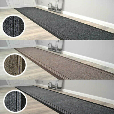 Hallway Stairway Runner Mat Rug Very Long Non Slip Black Grey Beige Carpet  • 18£