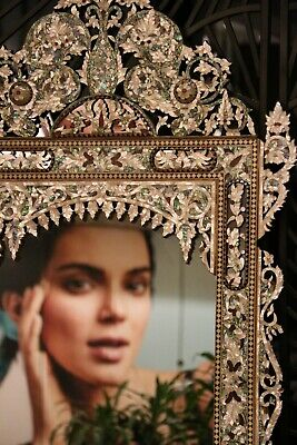 £4502.54 • Buy Genuine Mother Of Pearl And Abalone Inlay Mirror On Walnut Frame.