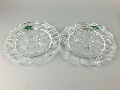 $12.99 • Buy Two Lead Crystal Bowl Plates Shannon Ireland Godinger Dish Candy 24% Wedding