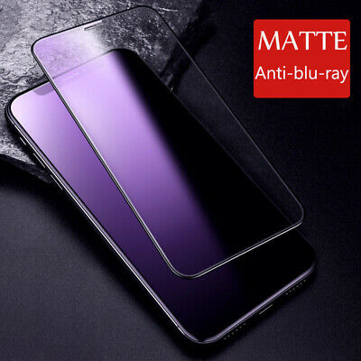 AU6.22 • Buy For IPhone 11 Pro Max XR X Blu-Ray Matte Frosted Tempered Glass Screen Protector