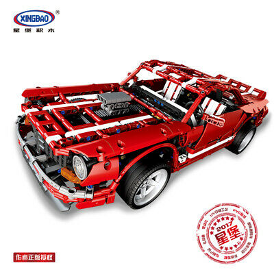 Xingbao Toy Easter Red Sports Car Model Building Blocks 2000PCS Kits Gift • 55.98£