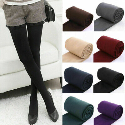 Thermal Fleece Foot Tights Lined Autumn Pants UK Ladies Full Thick Winter Warm • 3.96£