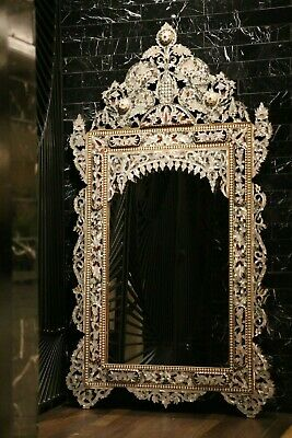 £4780.20 • Buy Genuine Mother Of Pearl And Abalone Inlay Mirror On Walnut Frame