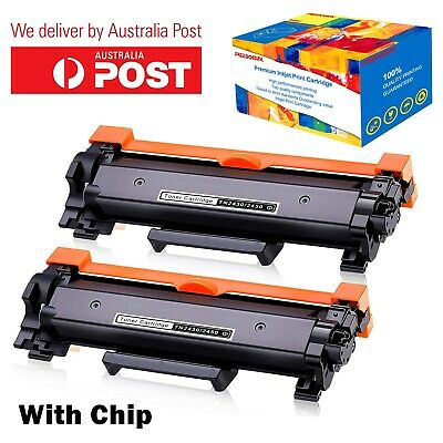 AU31.99 • Buy 2x TN-2450 CHIPPED Toner For Brother MFC-L2713DW MFC-L2730DW MFC-L2750DW L2350DW