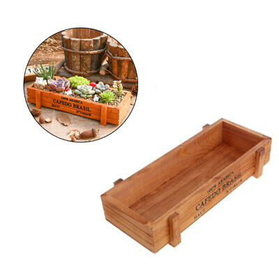 Wooden Garden Herb Planter Window Box Trough Pot Succulent Flower Plant Bed • 4.75£