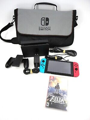 $178.50 • Buy Red And Blue Nintendo Switch Bundle With Zelda Breath Of The Wild