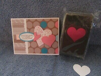 $9.50 • Buy Stampin Up SWEETHEART PUNCH-love-Valentine-heart-NEW-lot + Card