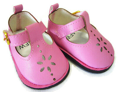 $6.29 • Buy For Bitty Baby American Girl Doll Clothes Dusty Pink T-Strap Shoes Sandals