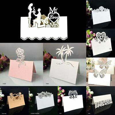 Place Wedding Table Cards Name Birthday Party Decors Laser Cut Hollow Patterns • 11.57£