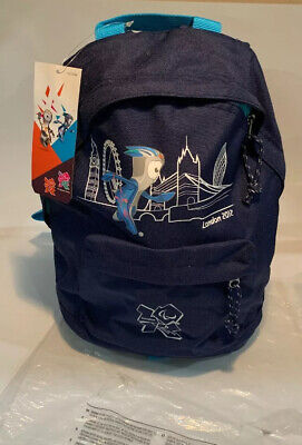 Black 2012 Olympic Logo Bag Rucksack Collectable New With Tags Small / Childs • 12.95£