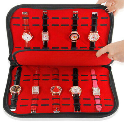 $ CDN26.49 • Buy 20 Watch Storage Box Watch Travel Pouch Collection Display Case Tray Interlayer