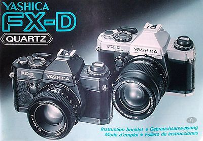 YASHICA FX-D SLR 35mm CAMERA OWNERS INSTRUCTION MANUAL -YASHICA • 18.87£