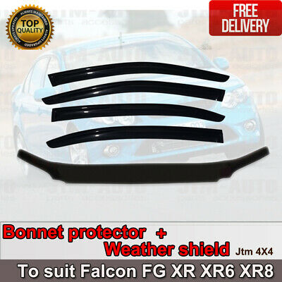 AU109 • Buy Bonnet Protector + Weather Shield To Suit Ford FG  Falcon XR XR6 XR8 2008-2014