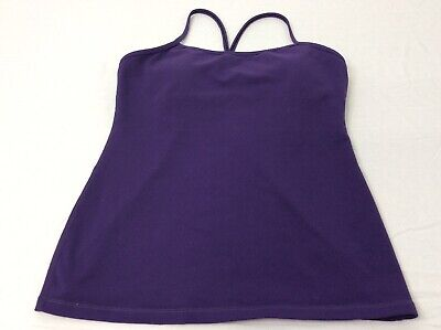 $ CDN52.82 • Buy Lululemon 10 Womens Purple Running Workout Tank Top Built In Bra